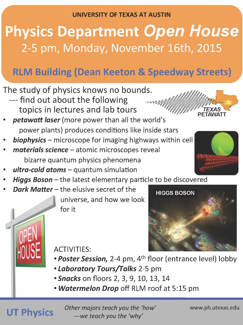 PHYSICS DEPARTMENT OPEN HOUSE
